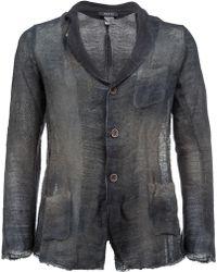 Avant Toi - Distressed Knit Blazer - Lyst
