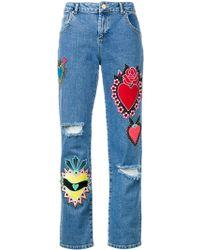 House of Holland - Heart Boyfriend Jeans - Lyst