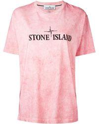 Stone Island - Logo Print T-shirt - Lyst