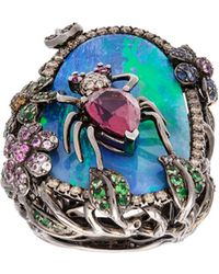 Wendy Yue - Opal Spider Cocktail Ring - Lyst