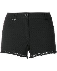 Plein Sud Jeanius - Frill Trim Shorts - Lyst