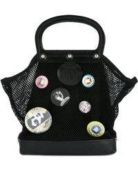 Jean Paul Gaultier - Badge Embellished Fishnet Bag - Lyst