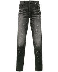 Uniform Experiment - Paint Splatter Slim-fit Jeans - Lyst