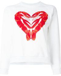 Peter Jensen - Lobster Heart Print Sweatshirt - Lyst