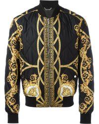 Lyst Versace Lenticular Foulard Bomber Jacket In Black For Men