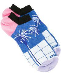 DIESEL - Palm Tree Pattern Socks - Lyst