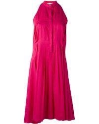 IO Ivana Omazic - Pleated Flared Dress - Lyst