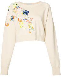Jason Wu - Embroidered Flowers Sweatshirt - Lyst