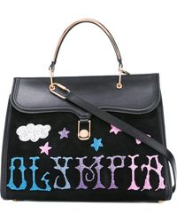 Olympia Le-Tan - Griffin Embr Marguerite Tote Bag - Lyst