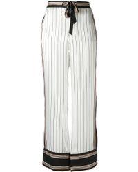 Equipment - - 'avery' Stripe Trousers - Women - Silk - Xs - Lyst