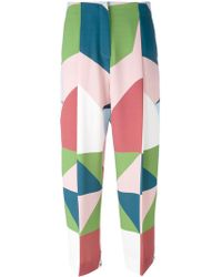 Parden's | Geo Print Cropped Trousers | Lyst