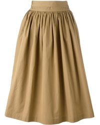 Aspesi | Gathered Midi Skirt | Lyst
