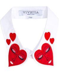 Vivetta - - Hearts Collar - Women - Cotton - One Size - Lyst