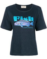 Antonia Zander - Fish Print T-shirt - Lyst