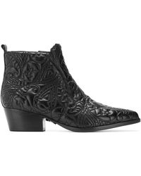 Pinko - Embossed Ankle Boots - Lyst