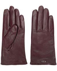 Lauren by Ralph Lauren - Logo Plaque Gloves - Lyst