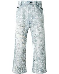 Unconditional - Floral Distressed Jeans - Lyst