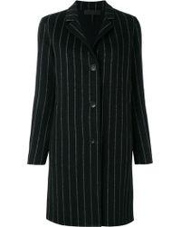 Rag & Bone - Pinstripe Buttoned Coat - Lyst