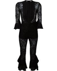 Christian Pellizzari - Floral Lace Jumpsuit - Lyst