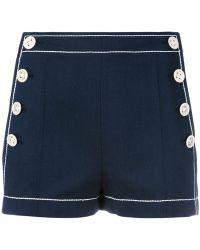 Agnona - Side Button Shorts - Lyst