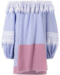 Forte Couture - Striped Off Shoulder Dress - Lyst