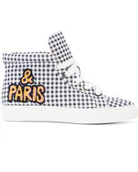 Laurence Dacade - Checked Hi-top Sneakers - Lyst