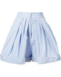 Vika Gazinskaya - Pleated Tailored Shorts - Lyst
