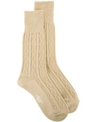 Unused - Cable Knit Socks - Lyst