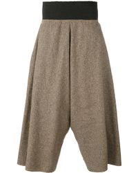 Bless - Tweed Wide Leg Cropped Trousers - Lyst