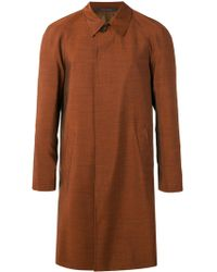 Pal Zileri | Straight Buttoned Coat | Lyst