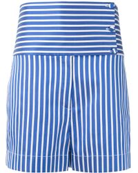 Ports 1961 - Striped High-waisted Shorts - Lyst