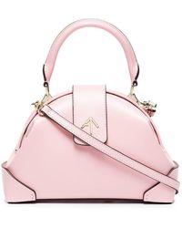 MANU Atelier - Pink Demi Leather Cross Body Bag - Lyst