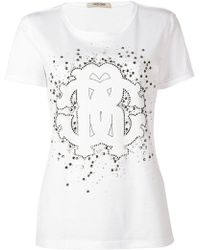 Roberto Cavalli - Embellished Logo T-shirt - Lyst