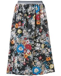 Ultrachic - Floral Print Midi Skirt - Lyst