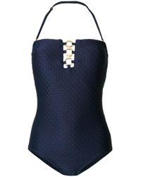 MICHAEL Michael Kors | Textured Strapless Swimsuit | Lyst