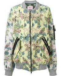 Marna Ro - Floral Bomber Jacket - Lyst