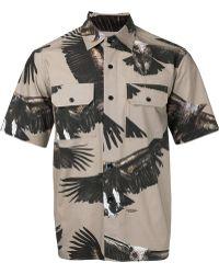 Yoshio Kubo - Eagle Print Short Shirt - Lyst