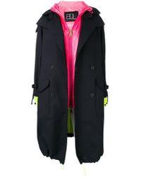 Bazar Deluxe - Trench Coat With Interior Gilet - Lyst