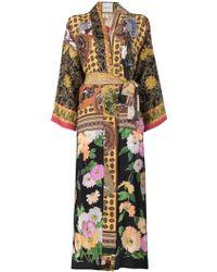 Rianna + Nina - Floral Printed Long Kimono Jacket - Lyst