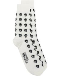 Alexander McQueen | Micro-skulls Cotton-blend Socks | Lyst