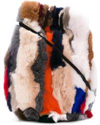 Astraet - Fur Detail Tote Bag - Lyst