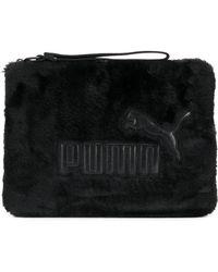 PUMA - Furry Clutch Bag - Lyst