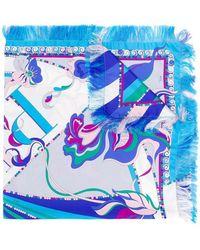Emilio Pucci - Printed Silk Logo Scarf - Lyst