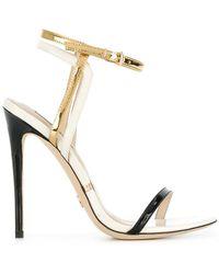 Gianni Renzi - Metallic Open-toe Sandals - Lyst