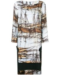 Antonio Marras - Ship Painting Patterned Dress - Lyst