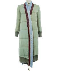 Greg Lauren - Glfw18026 Army/denim Blue Cotton/polyester/wool - Lyst