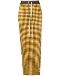 Rick Owens - Gingham Check Pencil Skirt - Lyst