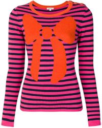 Manoush - Striped Bow Jumper - Lyst
