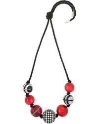 Marc Jacobs - Striped Rope Bead Necklace - Lyst