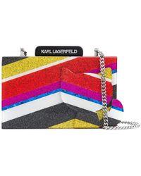 Karl Lagerfeld - K Stripes Choupette Clutch - Lyst